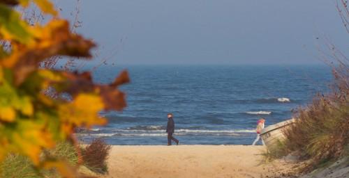 Herbstzeit auf Usedom, Strand in Heringsdorf
