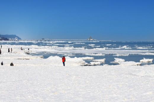 Winter auf Usedom - Strand zw. Ahlbeck und Heringsdorf