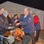 1. Seetel Wintergrillen auf Usedom, Schwein am Spieß