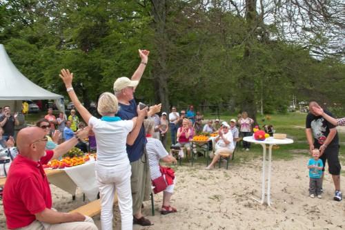 Beste Stimmung beim 1. Seetel Entenrennen auf Usedom