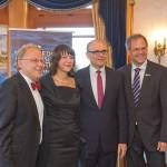 v.l.n.r.: UMF Intendant Thomas Hummel, Ehepaar Sellering, UMF Vorstand und Seetel Chef Rolf Seelige-Steinhoff