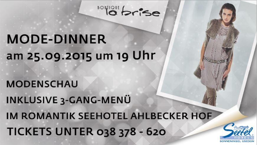Seetel Eventdinner: Mode-Dinner
